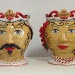 Ceramiche di Caltagirone - teste di moro